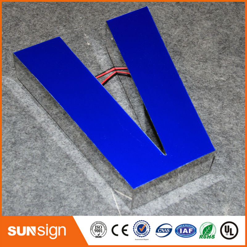 2016 3d Epoxy Resin Led Channel Letter Sign