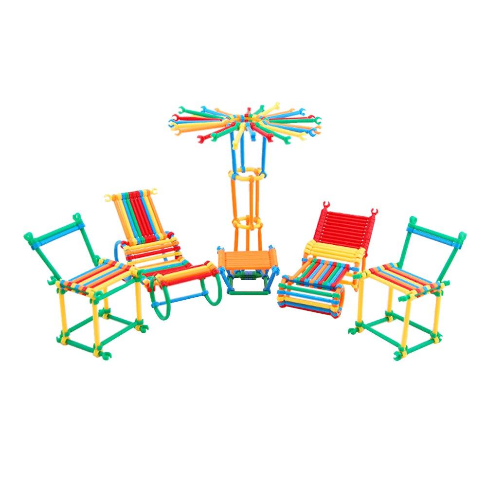 450Pcs/Set Plastic DIY Assembly Smart Stick Building Block Intelligence Sticks Educational Building Blocks Toys