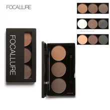 FOCALLURE Waterproof Eye Shadow Eyebrow Powder Make Up Palette Women Beauty Cosmetic Eye Brow Makeup Kit Set 3 Colors