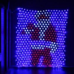 JUNJUE LED Net Fairy String Licht Weihnachten Hochzeit Party Im Freien Garten Dekoration Wasserdichte Weihnachtsmann LED String Licht