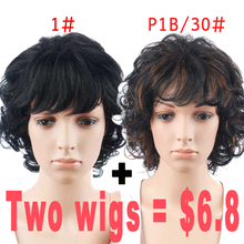 Promotion Short Wigs for Black Women Curly Wig Natural Cheap Hair Pixie Cut Wig Synthetic Hair Short Womens Wigs Sale