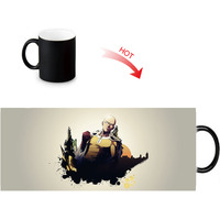 ONE PUNCH-MAN printed color changing mugs home porcelain tea milk cup personalized ceramic water coffee morph mug 12oz 5