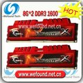 Hot sell! Brand new for G.SKILL DDR3 1600 8G*2 ram for desktop computer overclocking F3-12800CL10D-16GBXL