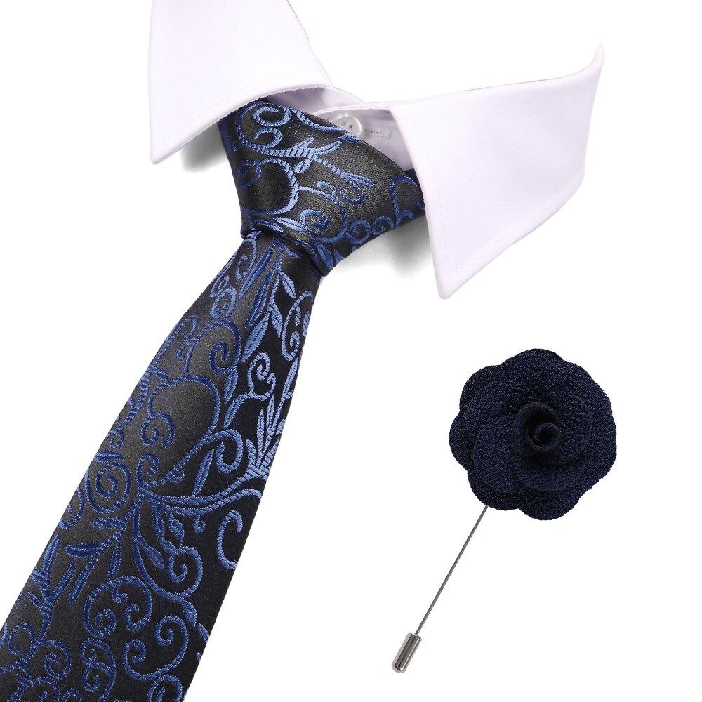 Formal Party Business Tie&pin Set Wedding Accessories Slim Fashionable Neckties Man 2019 Hot Sale 7.5cm Neck Ties For Men