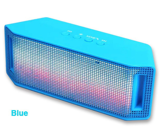 ML-28U LED Colored lights Portable Mini Wireless Bluetooth Speaker Music Amplifier with FM Radio MP3 Player Support USB TF Card