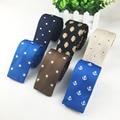 2016 Nuevo Diseño de Bordado de Punto Corbata Gravata Corbatas Para Hombres de Moda de Lana Estrella Dot Patrón de Anclaje Cravate Envío Gratis