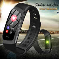 BINSSAW Smart Watch Men Band Color LCD Screen Fitness Bracelet IP67 Heart Rate IOS Android Phone Digital Watches Waterproof Band