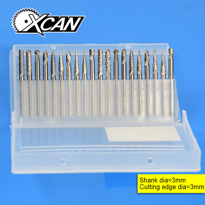XCAN 20 PCS Shank 3mm Tungsten Carbide Rotary Files Set XCAN 20 PCS Shank 3mm Tungsten Carbide Rotary Files Set