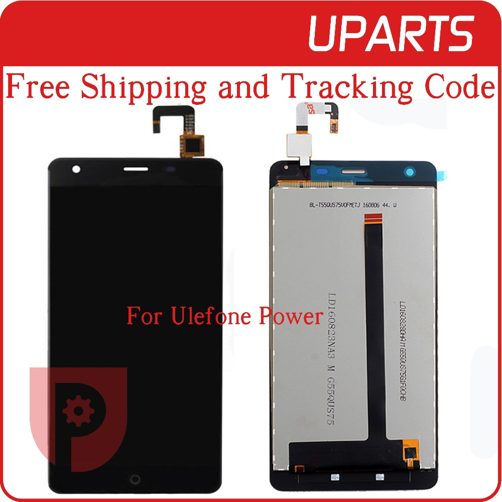 A+++ High Quality For Ulefone Power LCD Display + Touch Screen Assembly LCD Digitizer Glass Panel Replacement Free Shipping