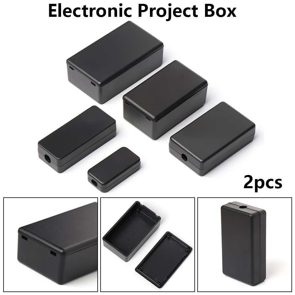 Plastic Project Box for Electronics Hobby Projects Enclosure Case DIY Black UK