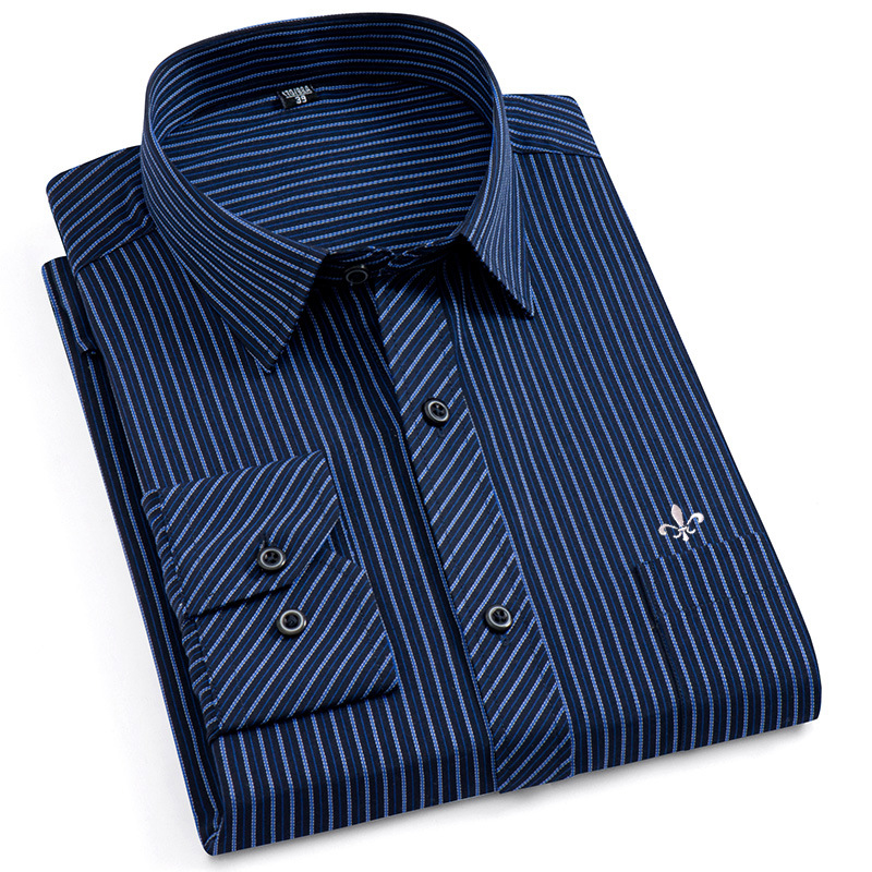Image 4 - Dudalina Male Striped Shirt Brand Clothing Pocket Mens Long Sleeve Shirt 2019 Summer Slim Fit Shirt Casual Shirt Men Clothes-in Casual Shirts from Men's Clothing