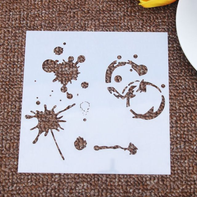 US $0 43 6% OFF|Graffiti Flower Reusable Stencil Airbrush Painting Art Cake  Spray Mold DIY Decor Crafts-in Cake Molds from Home & Garden on