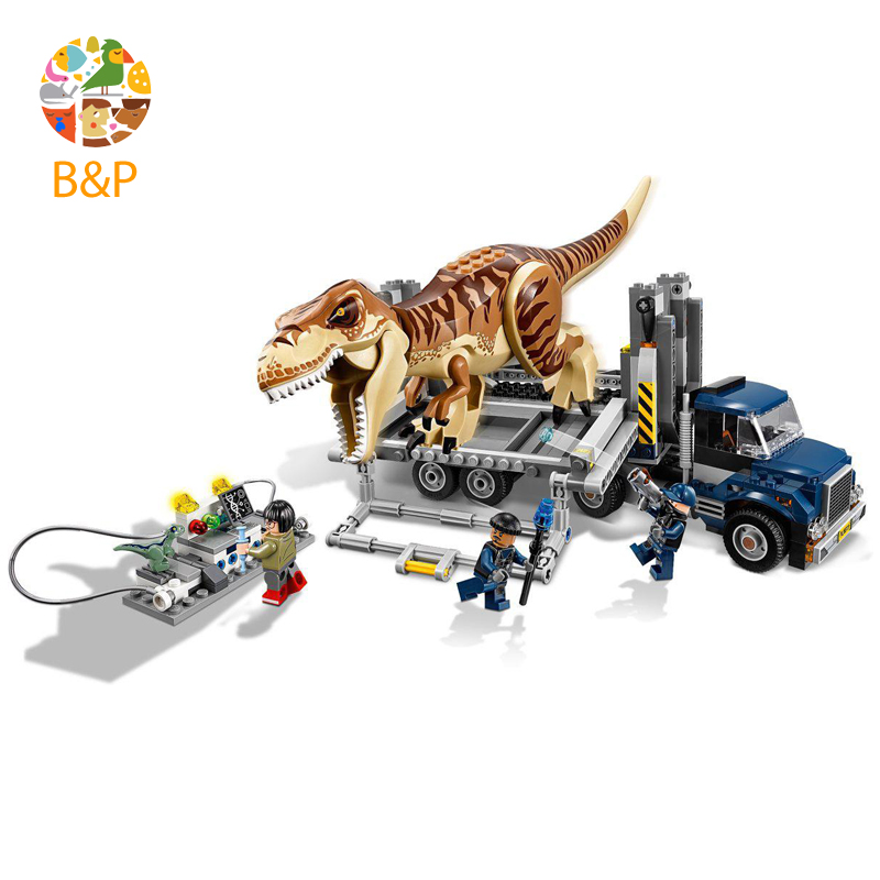 2018 New legoing 75933 638pcs Jurassic World The Tyrannosaurus Rex Transport Model Building Block Toys For Children Bela 10927 [lemonkoko] 1set 3pcs baby girls hair clip big bow knot headwear party birthday present baby children hairband accessories