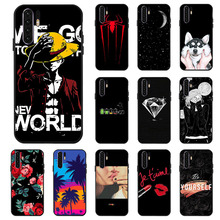 Ojeleye Fashion Black Silicon Case For Huawei P30 Pro Cases Anti-knock Phone Cover VOG-L29 Covers