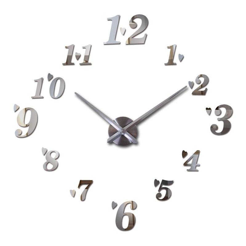 Horký prodej nástěnné hodiny akrylové zrcadlo diy hodiny křemenné hodinky domácí dekorace vinobraní nástěnné samolepky moderní design obývacího pokoje