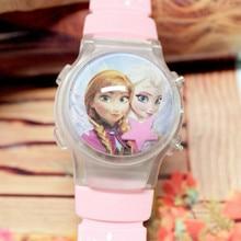 Selling Children Watch Cartoon Flashing Lights Digital Watches