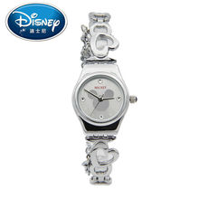 Disney Kids Watch Casual Fashion Cute Quartz Wristwatches women watch for Children Mickey Mouse Leather clock