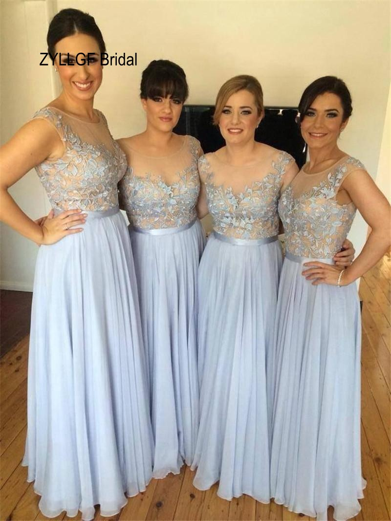 High quality large bridesmaid dresses promotion shop for high zyllgf bridal sheath boat neck long floor length country bridesmaid dresses large size dress for bridesmaid with appliques ds29 ombrellifo Image collections
