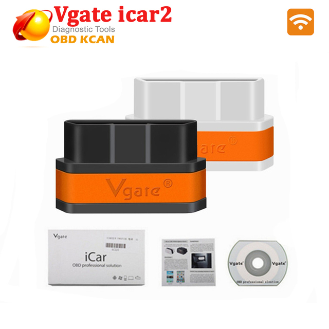 2016 Newly Auto Diagnostic Scanner Tool Vgate iCar2 Wifi OBD2 OBDII Support IOS/Android iCar 2 New Level For ELM327 WIFI