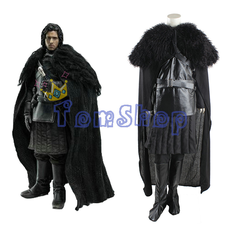 Game of Thrones Jon Snow Cosplay Suit Full Set Mens Halloween Fancy Party Costumes Outfits