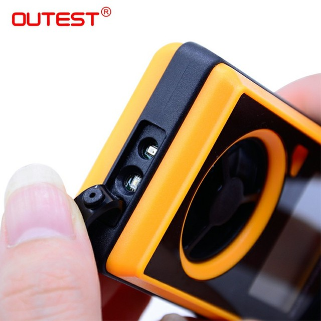 OUTEST GM8910 Multi-functional digital anemometer -40-10 degree wind speed meter chill dew point barometric pressure tester