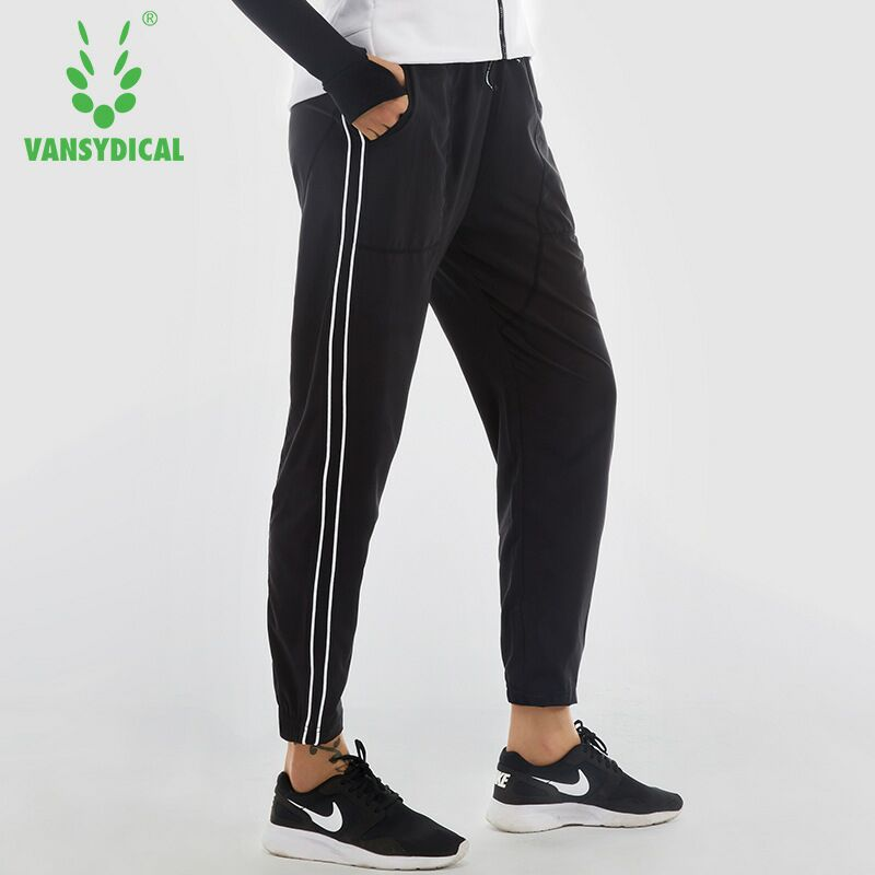 2018 Womens Running Pants Elastic Waist Plus Size Pants Loose Thin Female Pants for Training and Basketball Jogger Trousers