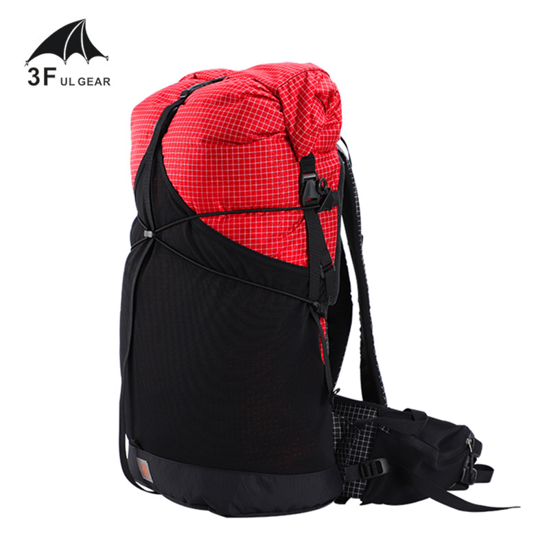 3F UL GEAR GuiJi 35L XPAC UHMWPE Lightweight Durable Travel Camping Hiking Backpack Outdoor Ultralight Frameless