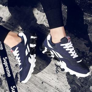 Image 3 - Zapatillas de deporte de talla grande para hombre, zapatos informales transpirables con fondo de hoja ondulada, suela para masaje, zapatos de malla, Color rojo, 49 colores combinados, 15