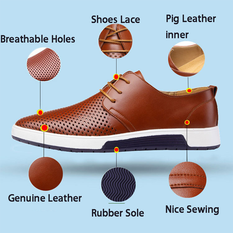 Men's shoes genuine leather breathable 21