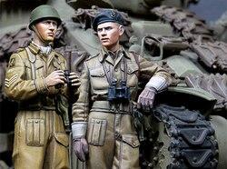 1/35 resina figura modelo kits ww2 soldados britânicos desmontados sem pintura