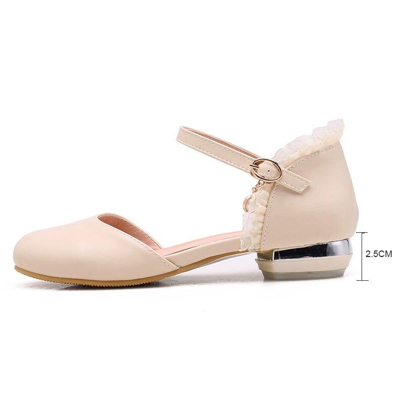 Femmes Ruches Blanc Femme Sandales Daitifen Rond Beige Rose white Vintage Chaussures Vacances D'été Doux Bout pink Sandalie Plat Casual ZqEpwARI