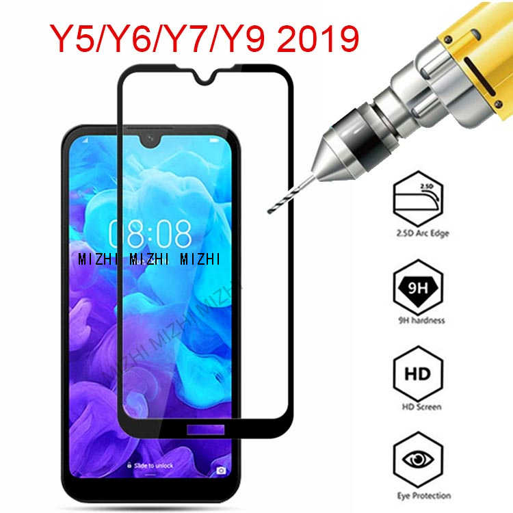 for huawei y5 y6 y7 y9 2019 tempered glass for huawei y 5 6 7 9 pro prime 2019 screen protector on 5y 6y 7y 9y Safety film