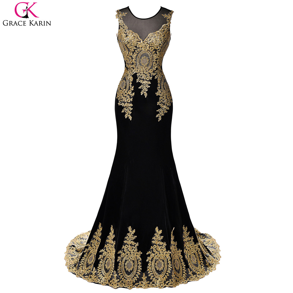 Looks - White and black mermaid prom dresses video