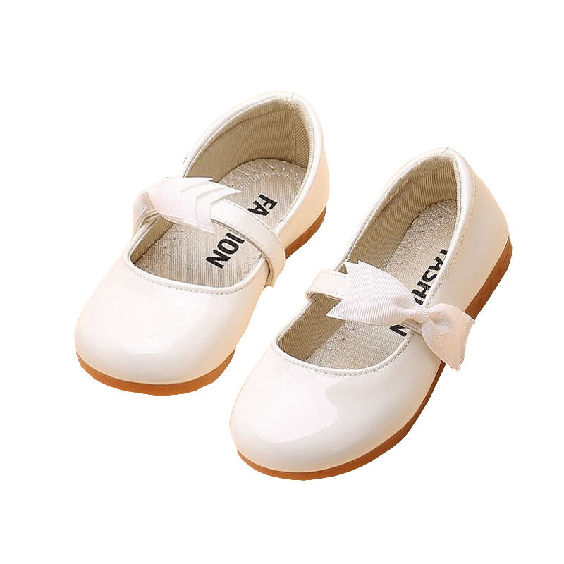 New Flower Children Girls White Flat Dance Leather Shoes For Teens Girls  School Wedding Party Dress Shoes 5 6 7 8 10 9 14 Years -in Leather Shoes  from ... e706e2422329