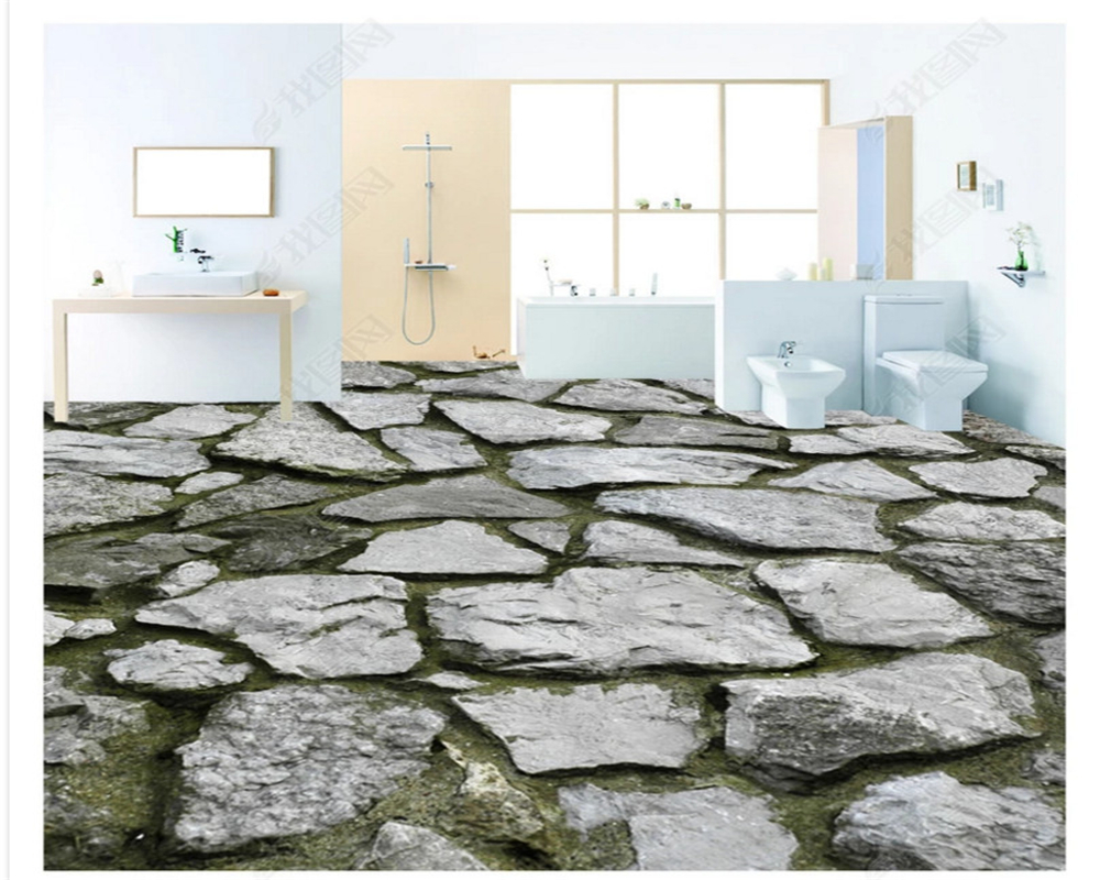 Beibehang Ultra Realistic Fashion Beautiful Wallpaper Dry Stone Floor Stereo Pvc 3d Flooring Stickers Download Papel De Parede