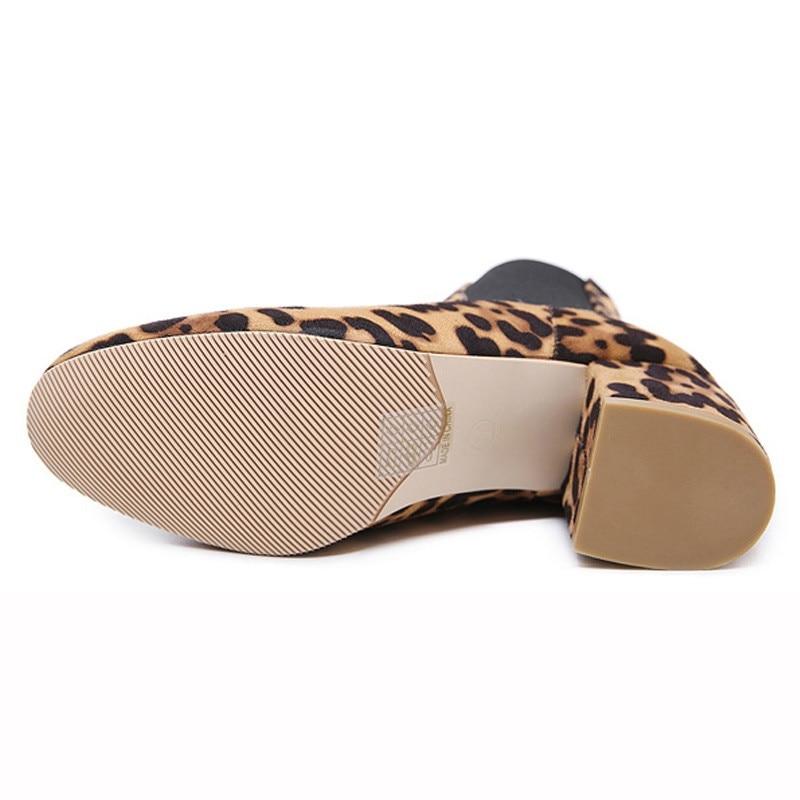 Resbalón Cargadores Primavera en Nuevos Botines Tamaño Otoño Mujeres leopard Del De Las Nueva Impresión Corto 35 2019 40 Negro Señoras Zapatos Alto Leopardo Talón ZOpnxwZ