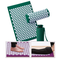Dropshipping Acupressure Mat Pillow Set Spike Acupuncture Massage Mat Relieve Body Foot Pain Stress Massager Cushion with bag
