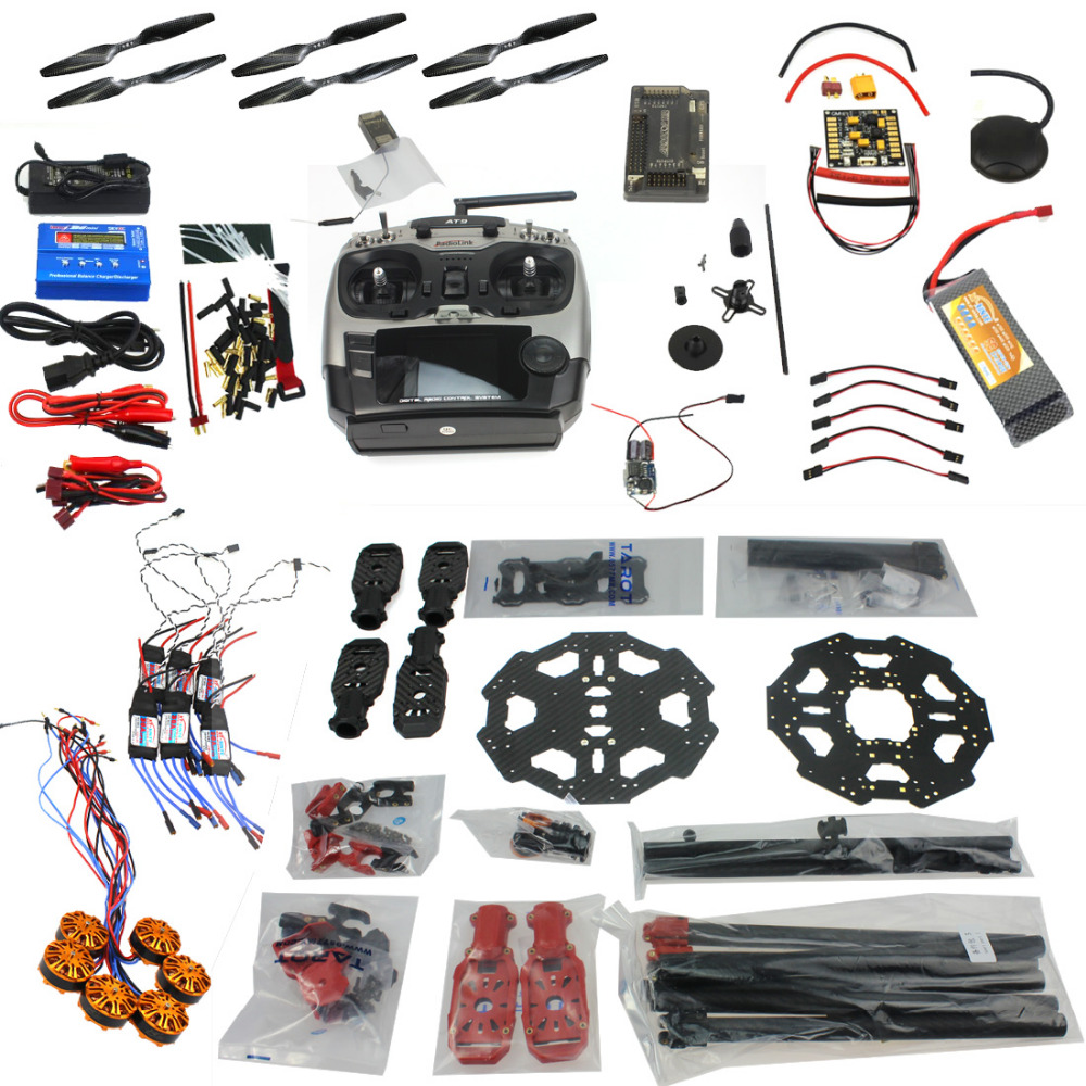 F07807-C Aircraft Kit Full Set Helicopter Drone Tarot 680PRO Frame 700KV Motor GPS APM 2.8 Flight Control AT9 Transmitter