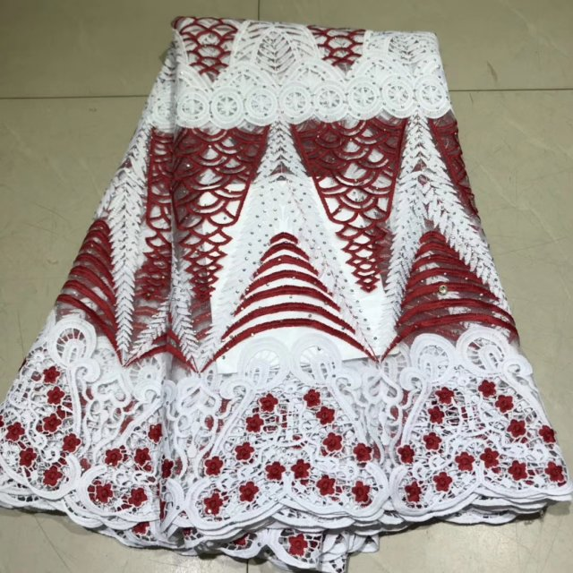 2019 New African Lace Fabrics For Party Dress High Qaulity Tulle French Laces Fabrics For Wedding Polyester Nigerian Lace Fabric