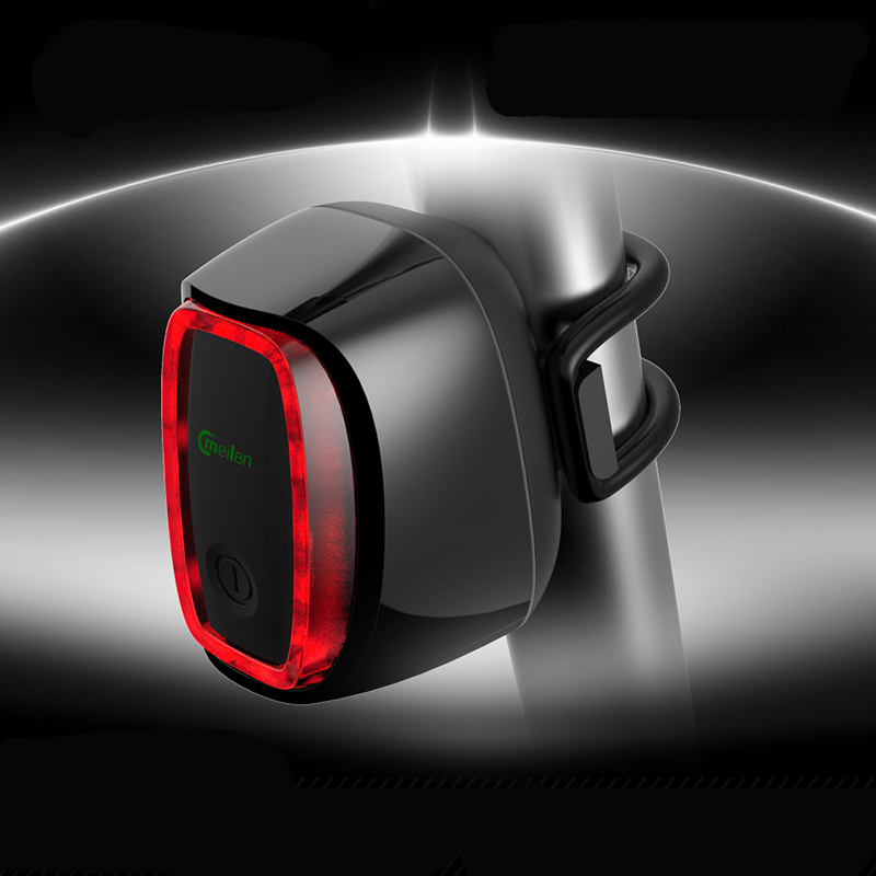 Meilan X6 Bicycle Rear Taillight USB Rechargeable Waterproof Bike Safety Lamp Intelligent Light-sensit Cycling Lamp 7 Modes
