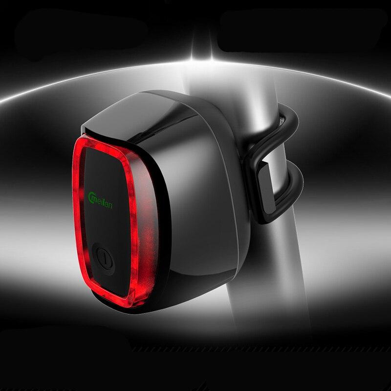 Meilan X6 Traseira Da Bicicleta Luz Traseira USB Recarregável À Prova D' Água Bicicleta Ciclismo Lâmpada 7 Modos Lâmpada de Segurança de Luz Inteligente-sensit