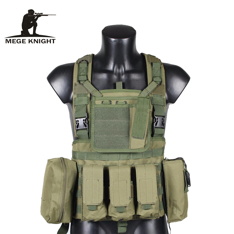 MEGE Tactical Vest Military Airsoft Camouflage Uniform, Combat Vest Amy Clothing US Navy Seal Colete Tatico Python Chaleco