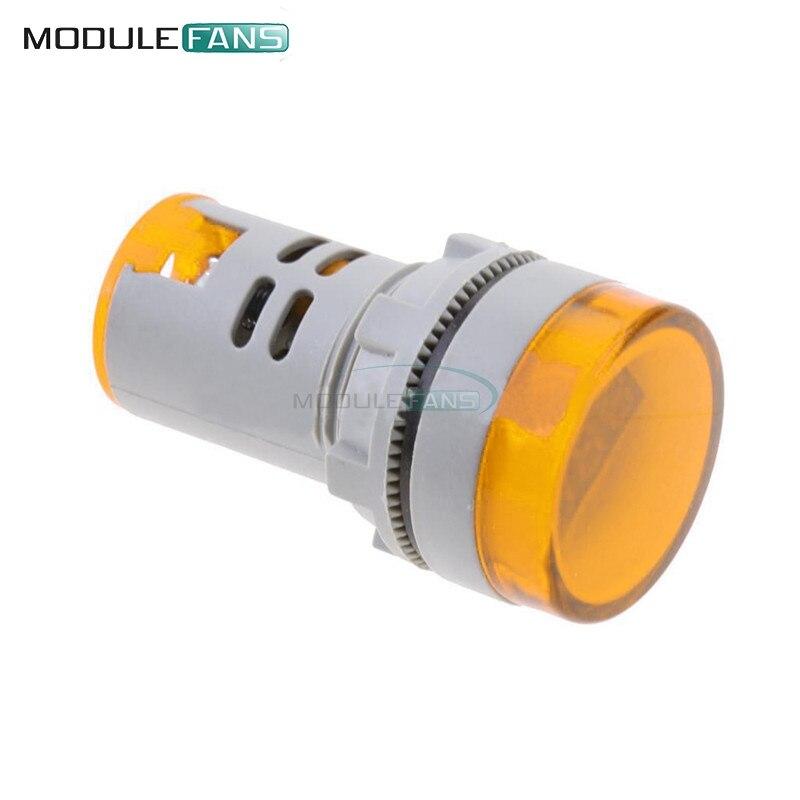 Orange Color 22mm Led Digital Display Gauge Volt Voltmeter Voltage Meter Indicator Pilot Light T90 Ac 60v-500v 0-50a Finely Processed Electronic Components & Supplies