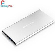 CinkeyPro Power Bank For XiaoMi Mi iPhone iPad 10000mAh 2 Ports USB Portable Charger Aluminum Powerbank Backup External Battery