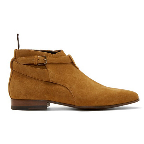 2017 New Fashion Spring  Nubuck Leather Men Boots Buckle Strap Casual Shoes Men Ankle Boots Pointed Toe Men Shoes Botas Mujer (3)