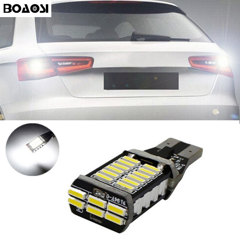 BOAOSI 1x Canbus Led T15 921 912 W16W 4014SMD Car Backup Light Reverse Bulb For Opel Combo Box Zafira Tourer VW kia Chevrolet wljh 2x canbus 20w 1156 ba15s p21w led bulb 4014smd car backup reverse light lamp for bmw 228i 320i 328d 328i 335i m3 x1 x4 2015