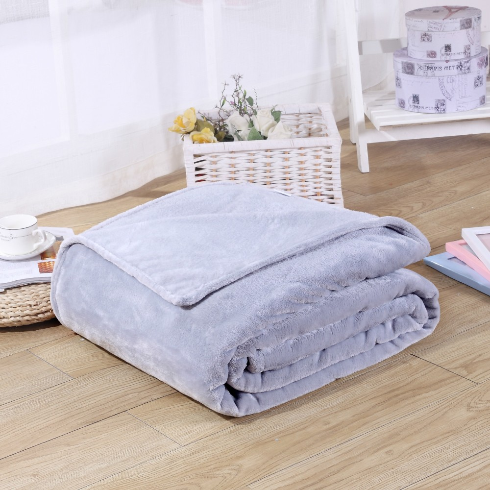 Home Textile Solid Air/Sofa/Bedding Throws Flannel Blanket Winter Warm Soft Bedsheet 100*140cm 150/180*200cm 200*230cm