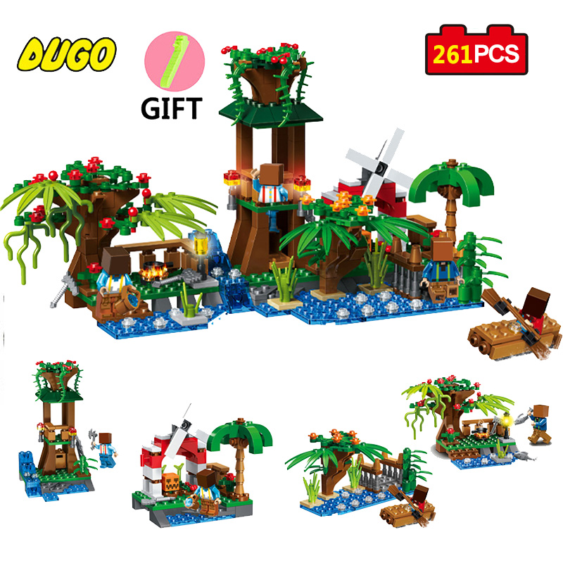 DUGO My World Minecrafted Figures Building Educational Toys For Children Compatible Legoe Minecrafted City Christmas Boys Gifts hot sale 1000g dynamic amazing diy educational toys no mess indoor magic play sand children toys mars space sand