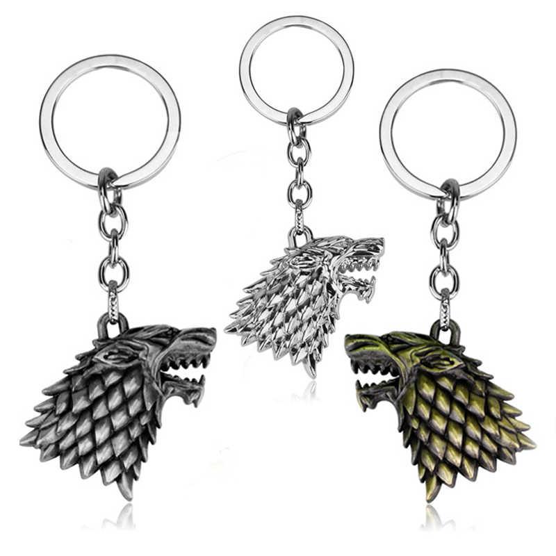 لعبة من عروش المفاتيح الذئب رئيس المنزل ستارك المفاتيح أغنية من الجليد و النار سلاسل المفاتيح حامل هدية الرجال المجوهرات