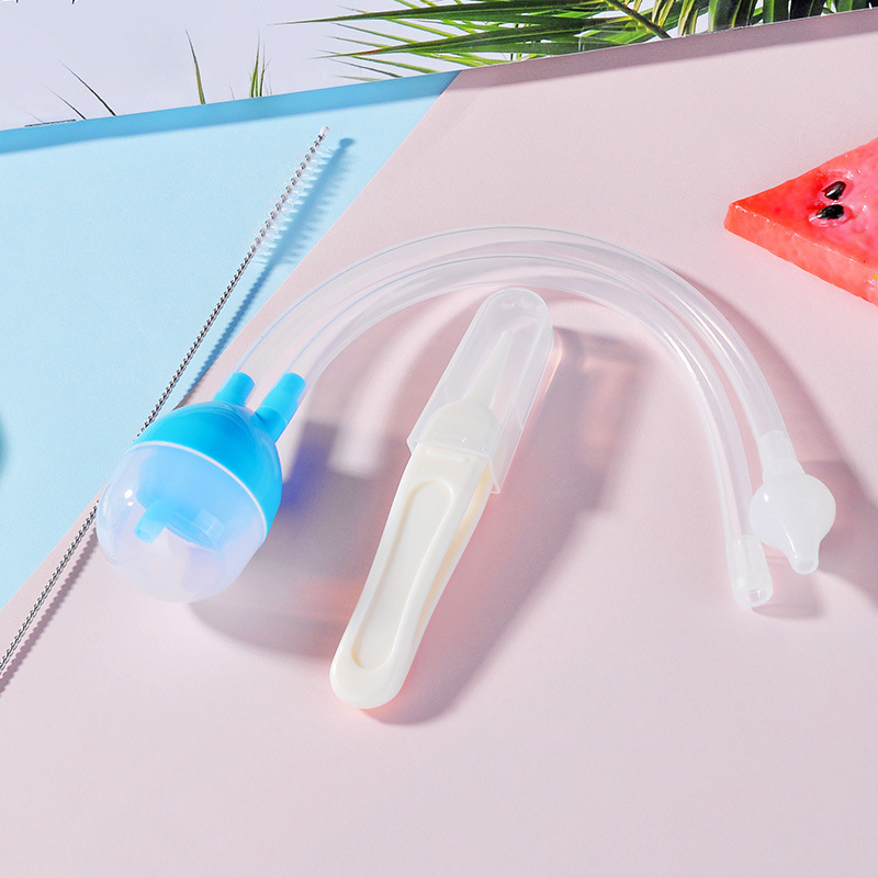 1pcs 2019 Hot New Born Baby Vacuum Suction Nasal Aspirator Safety Nose Cleaner infantil Nose Up aspirador nasal Baby Care in Nasal Aspirator from Mother Kids